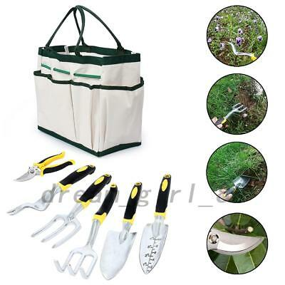 Garden Work Tools Set Hand Power Kit Premium Ergonomic Storage Gardening Outdoor