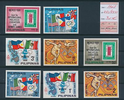 LH26273 Philippines 1968 Mexico olympics fine lot MNH cv 30 EUR