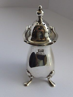 Solid Silver Pepper Pot Birmingham 1918 Maker Walker & Hall
