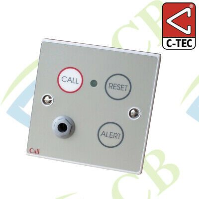 Emergency Call Point, Button Reset c/w Remote Socket NC802DEB-1/2
