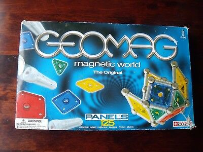 Geomag 125 Piece Set Includes 70 Panels 31 Silver Rods 24 Balls + Extra 29 Balls