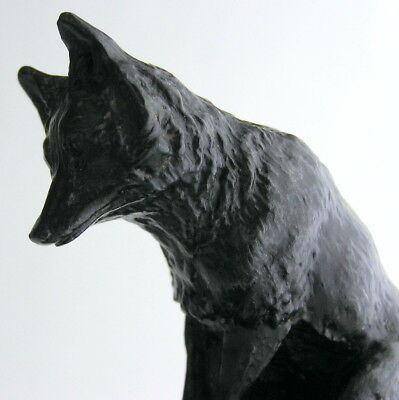 Signed 19th Century Cast Iron Figure / Sculpture FOX Plinth Zimmermann of Hanau