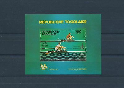 LH25266 Togo Moscow 1980 olympic games sheet gold MNH