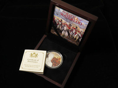 Guernsey The Battle of Waterloo Silver Proof £5 Coin 2015