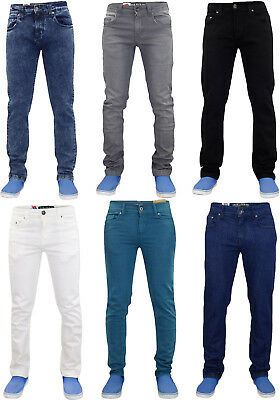 Mens True Face Zip Fly Stretch Slim Fit Denim Jeans Cotton Trousers Pants