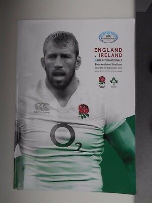 England Vs Ireland Rugby Union Twickenham Stadium 5Th September 2015 Programme