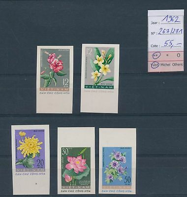 LH26372 Vietnam 1962 imperf plants nature fine lot MNH cv 55 EUR