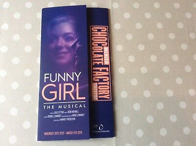Funny Girl Programme from the Menier Theatre Nov 2015 with Sheridan Smith