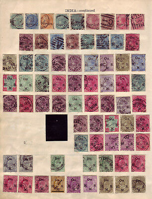 INDIA. LARGE USED SELECTION. QV to KGV. (7 PHOTO'S)