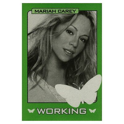 Mariah Carey authentic 1998 Butterfly Tour satin cloth Backstage Pass