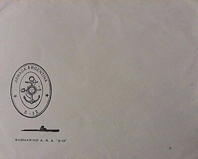 ARGENTINA 1970s NAVY STATIONERY COVER FOR SUBMARINE S 12 SUNK IN FALKLANDS WAR