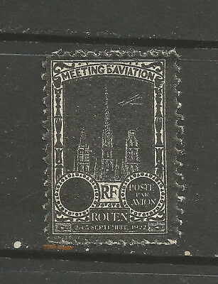 France/Rouen 1922 Aviation Meeting poster stamp/label (MISSING VALUE)