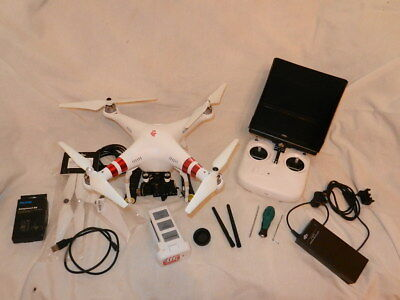 DJI Phantom 2 drone with 5.8Ghz  Immersion & Flystart 7'' FPV. Extras, 2xbattery