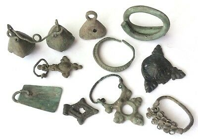 Viking ancient rings amulets temple earrings 5-8 century AD