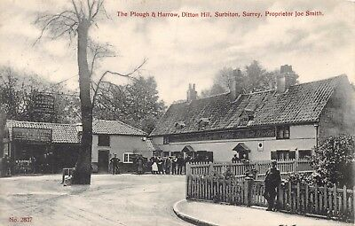 Surrey Surbiton Ditton Hill The Plough & Harrow Pub & Surrey Cycle Works Card
