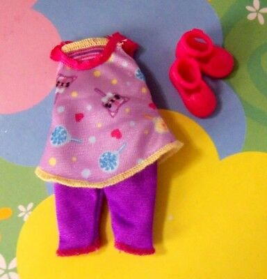 Kelly BJD Polymer Doll Clothes *Chelsea's HTF Lollypop & Hearts Pants Set Shoes*