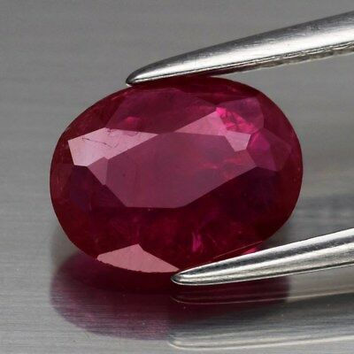 Rare! 1.23ct 8.4x6.5mm Oval Natural Red Ruby, Mozambique *Only Heated No Glass