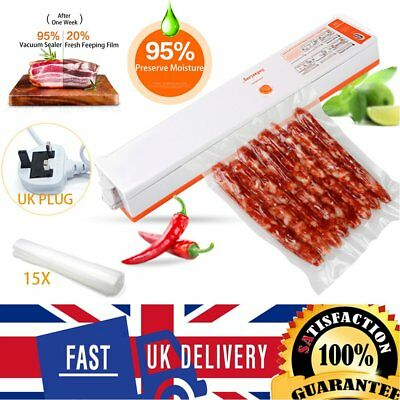 Electrical Food Vacuum Sealer Bag Packing Machine Saver Home Kitchen Storage UK
