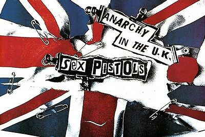 "Sex Pistols Anarchy in the UK Poster  24"" x 36""  Jamie Reid  Free US Shipping"