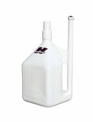 New - HUNSAKER 8 Gallon WHITE Fuel Jug, Gas Can, Racing Fuel Dumpcan Container