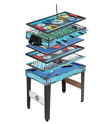 11-in-1 Games Table Wooden Pool Football Chess Tennis Air Hockey More Xmas Toy