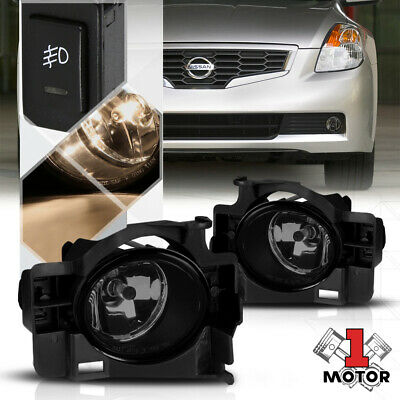 Smoke Tinted Fog Light Bumper Lamps w/Switch+Harness for 08-10 Nissan Altima 2Dr