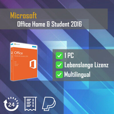 Microsoft Office Home and Student 2016  ESD Word, Excel, OneNote, PowerPoint