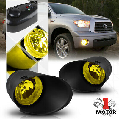 Yellow Lens Fog Light Bumper Lamp w/Switch+Harness+Bezel for 07-13 Toyota Tundra