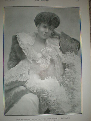 Printed photo the widow Mrs (Colonel) Harry McCalmont 1902