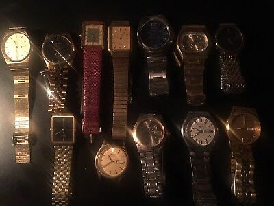 Seiko Mens Watch Lot 12 Watches Various Condition Vintage