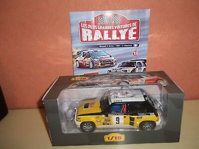 Voiture Rally 1/18 Renault 5 Turbo 1981 J.ragnotti