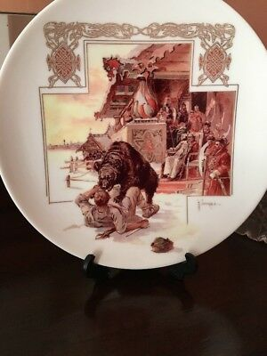 Russian  imperial porcelain Kuznetsov Plate
