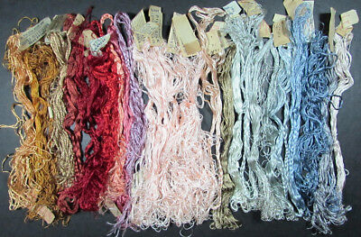 30x Needlepoint/Embroidery THREADS Assorted Silk Flosses/Mixed Lot-FJ45
