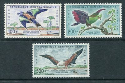 CENTRAL AFRICA 1960 AIRMAIL BIRDS MNH MH Set to 500F 3 Stamps