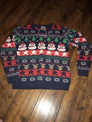 Boy's Christmas Novelty Jumper Age 11-12 WORN ONCE VGC