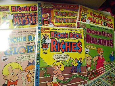 Richie Rich Collector Comic Lot of 6-Gloria,Inventions,Diamonds,Millions,Riches