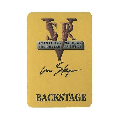 Stevie Ray Vaughan authentic 1989 In Step tour satin Backstage Pass otto
