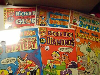 Richie Rich Collector Comic Lot of 6-Millions,Vault of Mystery,Gloria,Riches+++
