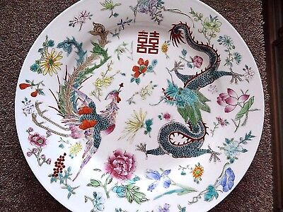 Decorative Hand-painted Chinese Plate 25cm diameter