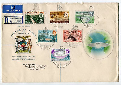 RHODESIA NYASALAND 1960 ROYAL VISIT Special Cancel Set to 5 shillings FDC COVER
