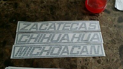 Michaocan Chevrolet silverado 454ss type of decal 90 91 tailgate truck 90-16