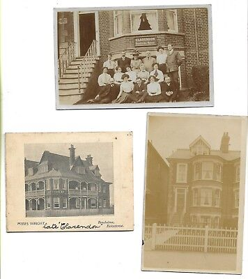 Early Rp Postcards, Clarendon Boarding House & Beecholme Advertise, Felixstowe