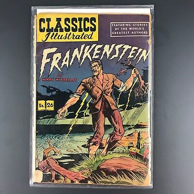 Classics Illustrated #26 Frankenstein HRN 60 (1945) Gilberton Publications