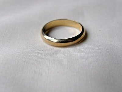 14 Karat Gold Ring Size 5 Vintage, Signed 14 Kt, Wedding Band