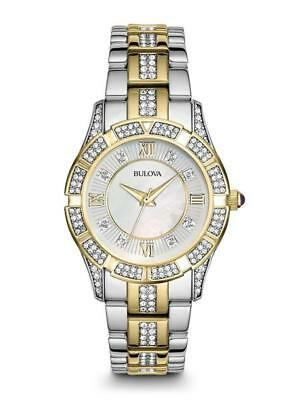 Bulova Women's 98L135 Genuine Crystals Yellow Gold and Silver Tone Dress Watch