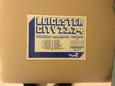 Programme For 1st Division Match Leicester City V Manchester United 1973/74