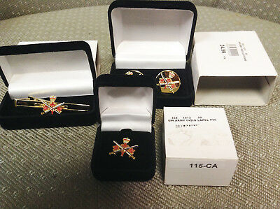 Canadian Armed  Forces Cuffling, Tie Clip And Pin Set