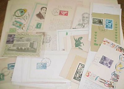Argentina 45 Diff. Fd Cards  1944-1964 Cachet Unaddressed