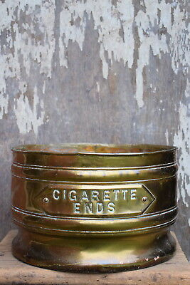 "Early 1900s Henry Pratt Nestor Brass ""Cigarette Ends"" Bin Public House Bar Pub"