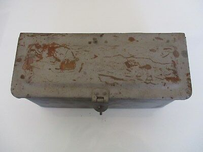 ANTIQUE Fordson Metal Tractor Mount Tool Box FARM